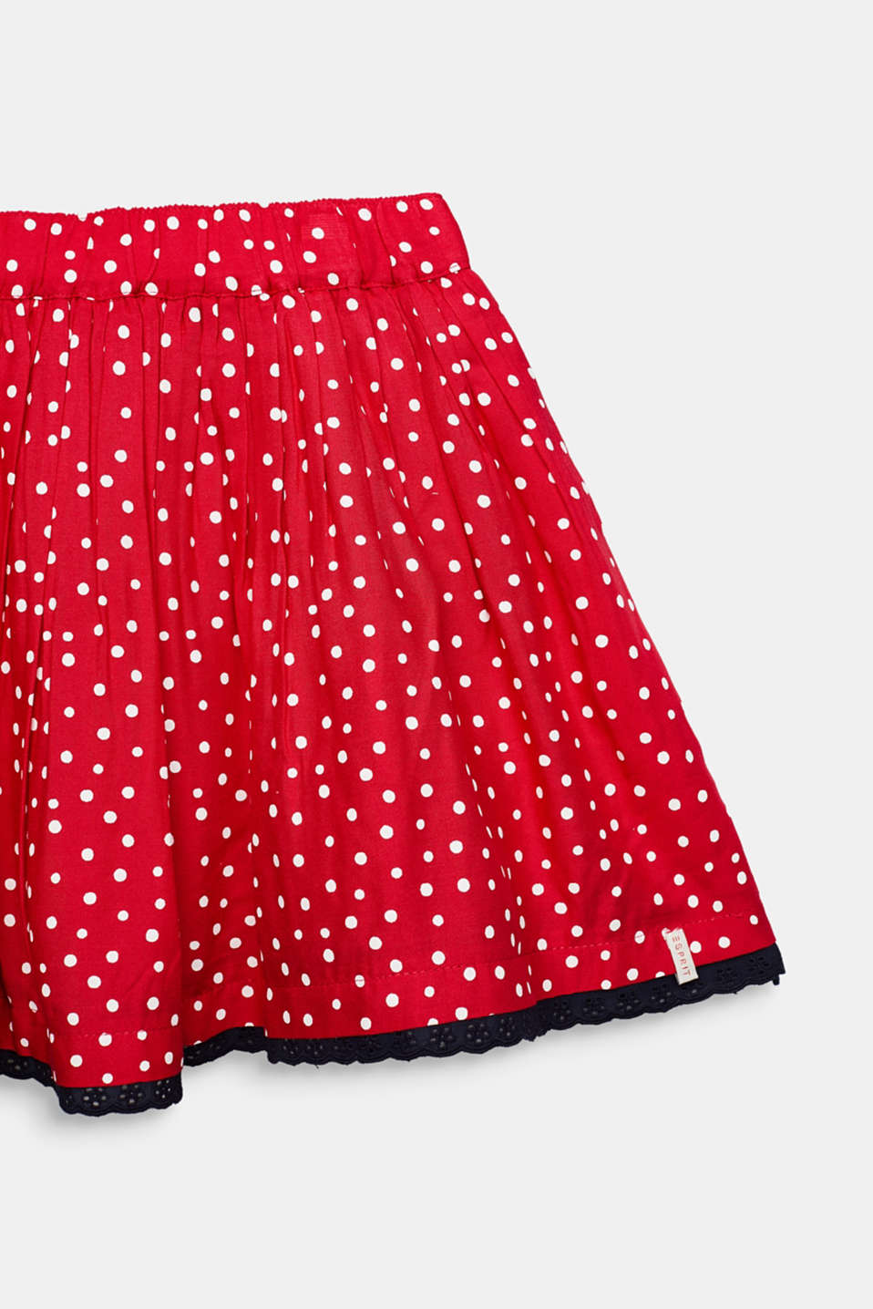 Polka dot skirt with lace and tulle, RASPBERRY, detail image number 1