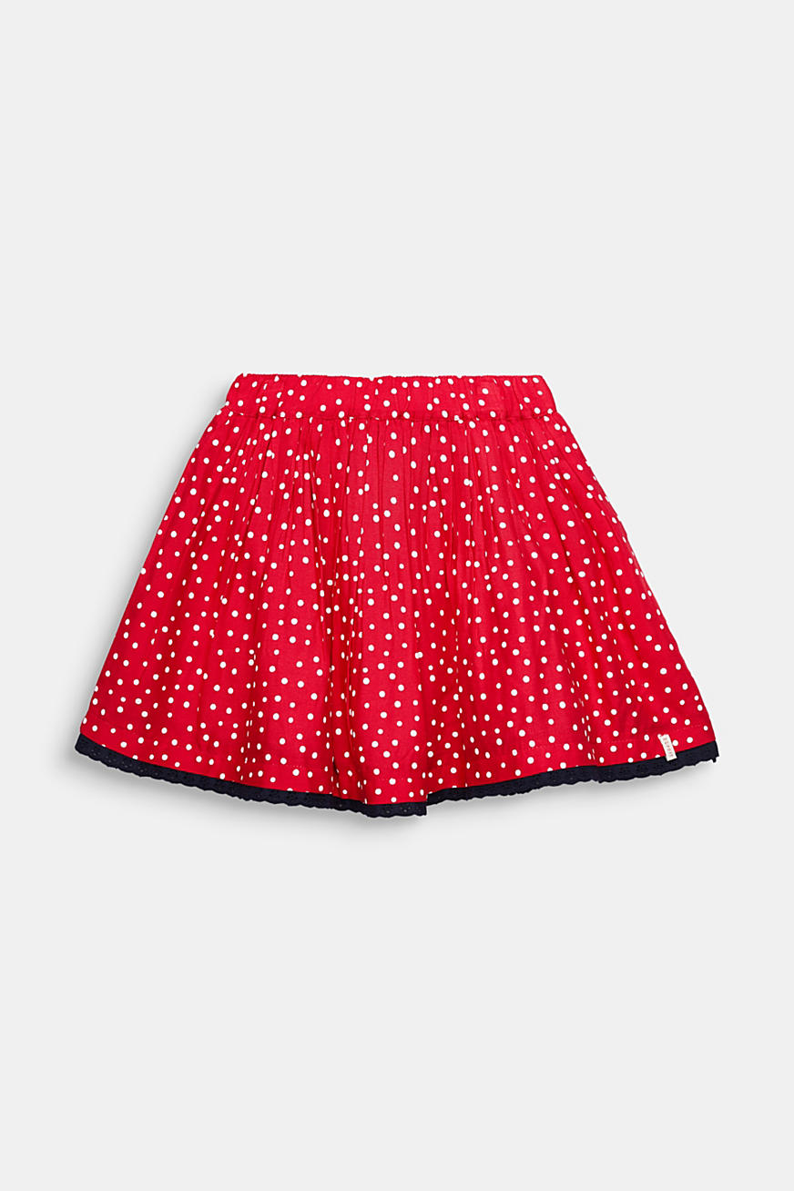 Polka dot skirt with lace and tulle