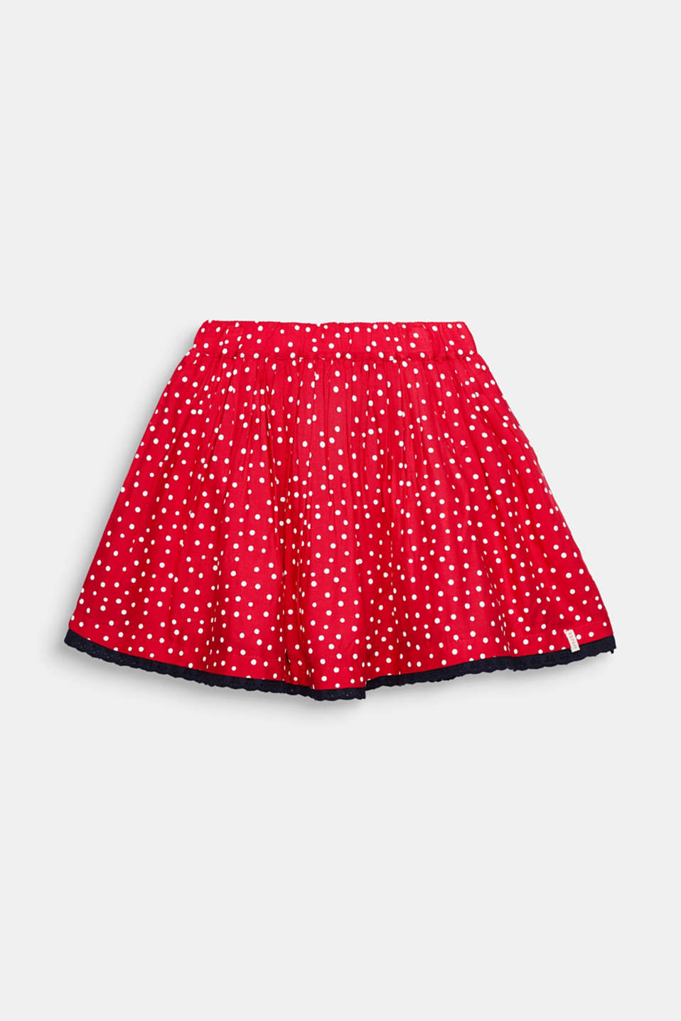 Polka dot skirt with lace and tulle, RASPBERRY, detail image number 0
