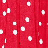 Polka dot skirt with lace and tulle, RASPBERRY, swatch