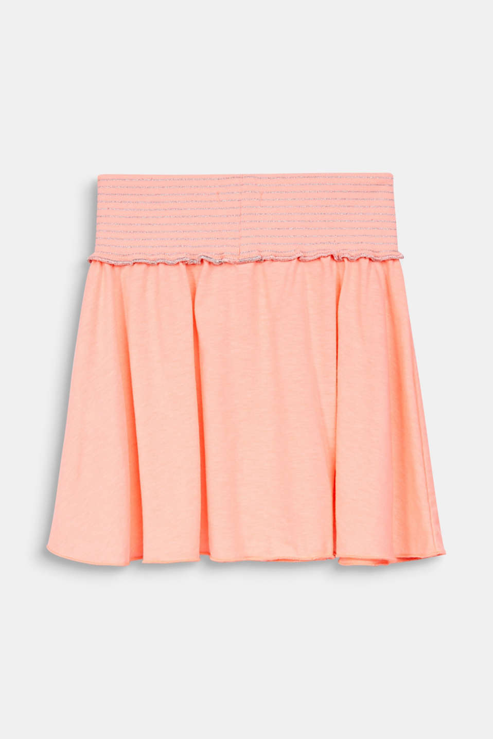 NEON jersey skirt with a wide elasticated waistband, NEON CORAL, detail image number 1