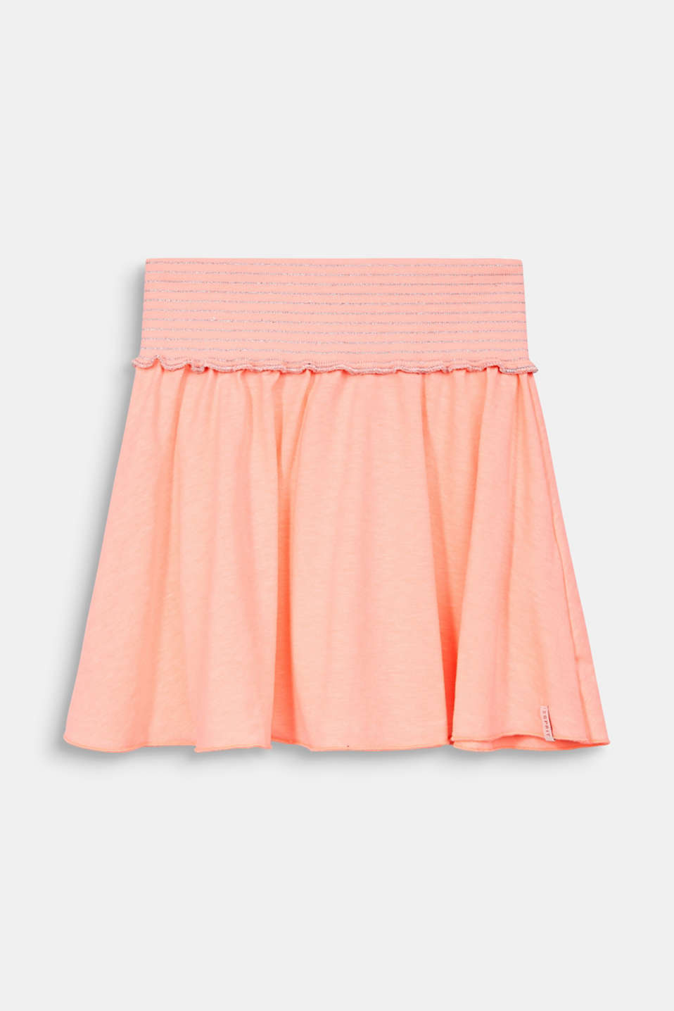 NEON jersey skirt with a wide elasticated waistband, NEON CORAL, detail image number 0