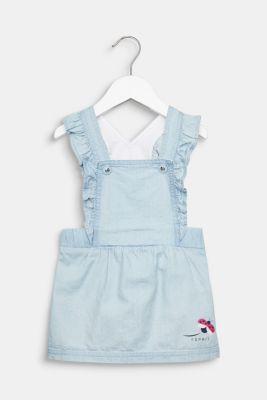 Denim pinafore dress, 100% cotton, LCLIGHT INDIGO D, detail
