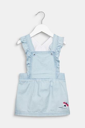 Denim pinafore dress, 100% cotton