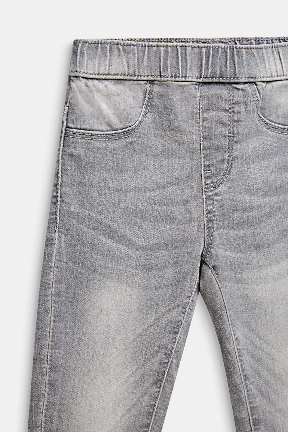 Garment-washed grey jeggings, GREY LIGHT WAS, detail image number 2