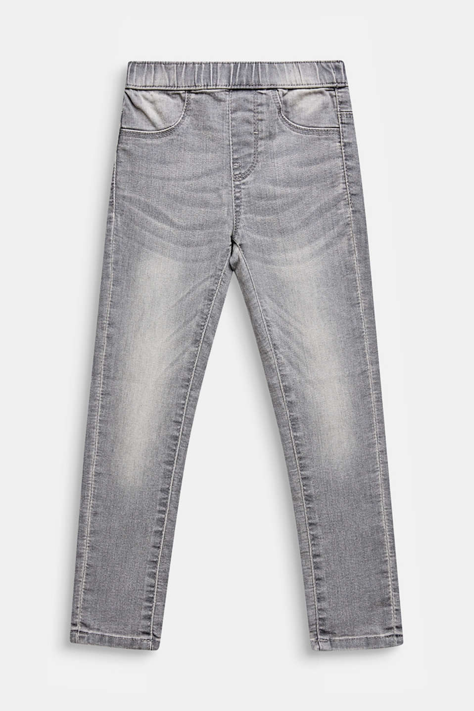 Esprit - Grijze jegging met garment-washed look