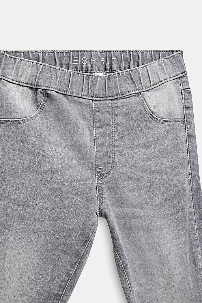 Garment-washed grey jeggings, GREY LIGHT WASHED, detail image number 2