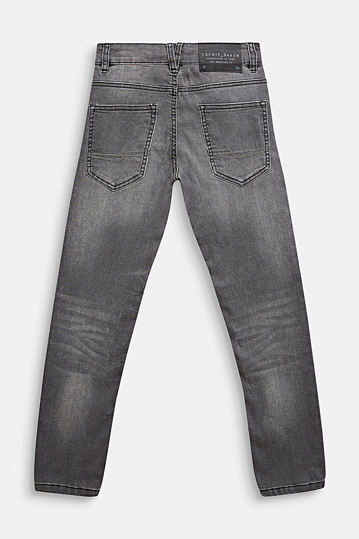 Grijze jeans met veel stretch, LCGREY DARK WASH, detail image number 1