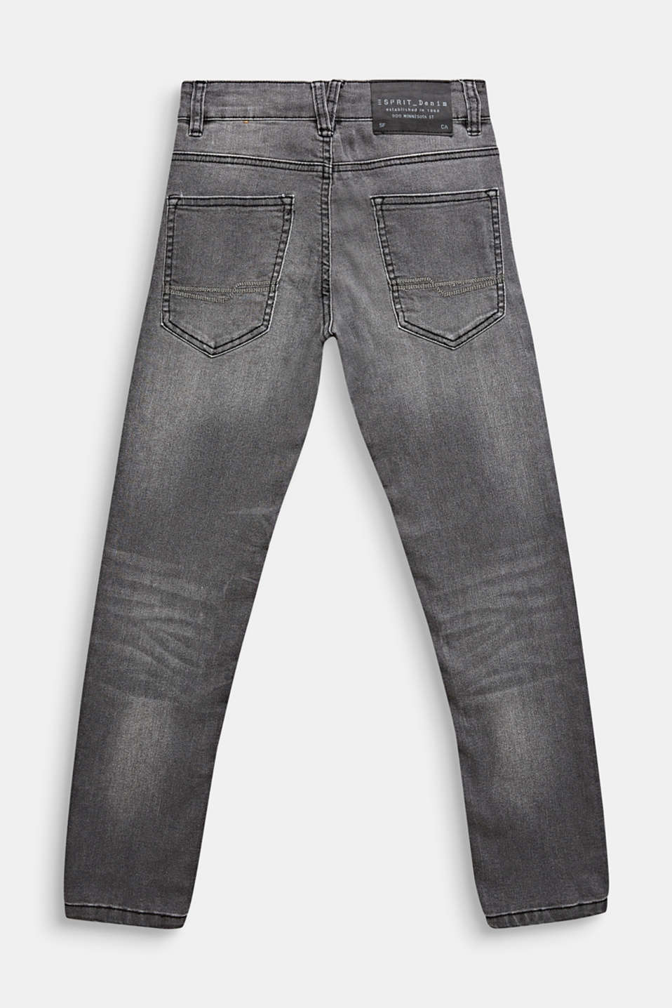 Super stretch grey jeans, LCGREY DARK WASH, detail image number 1