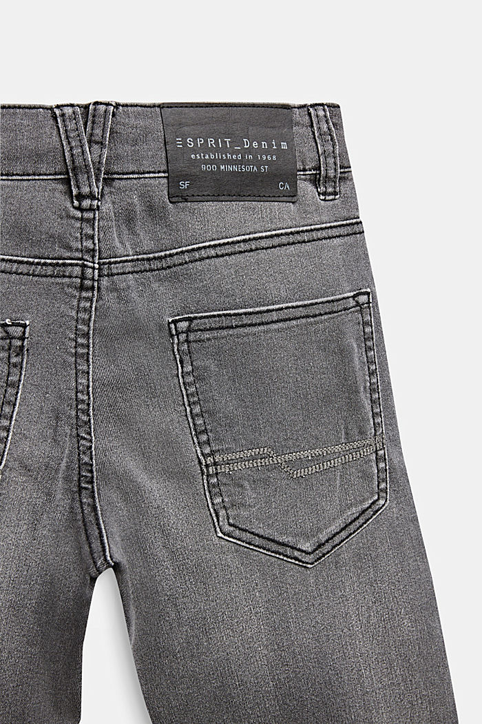 Grijze jeans met veel stretch, LCGREY DARK WASH, detail image number 3