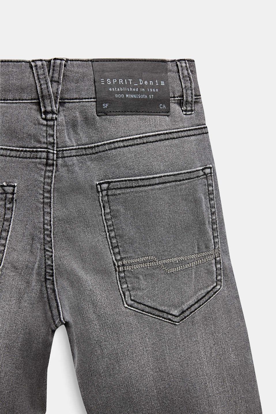 Super stretch grey jeans, LCGREY DARK WASH, detail image number 3