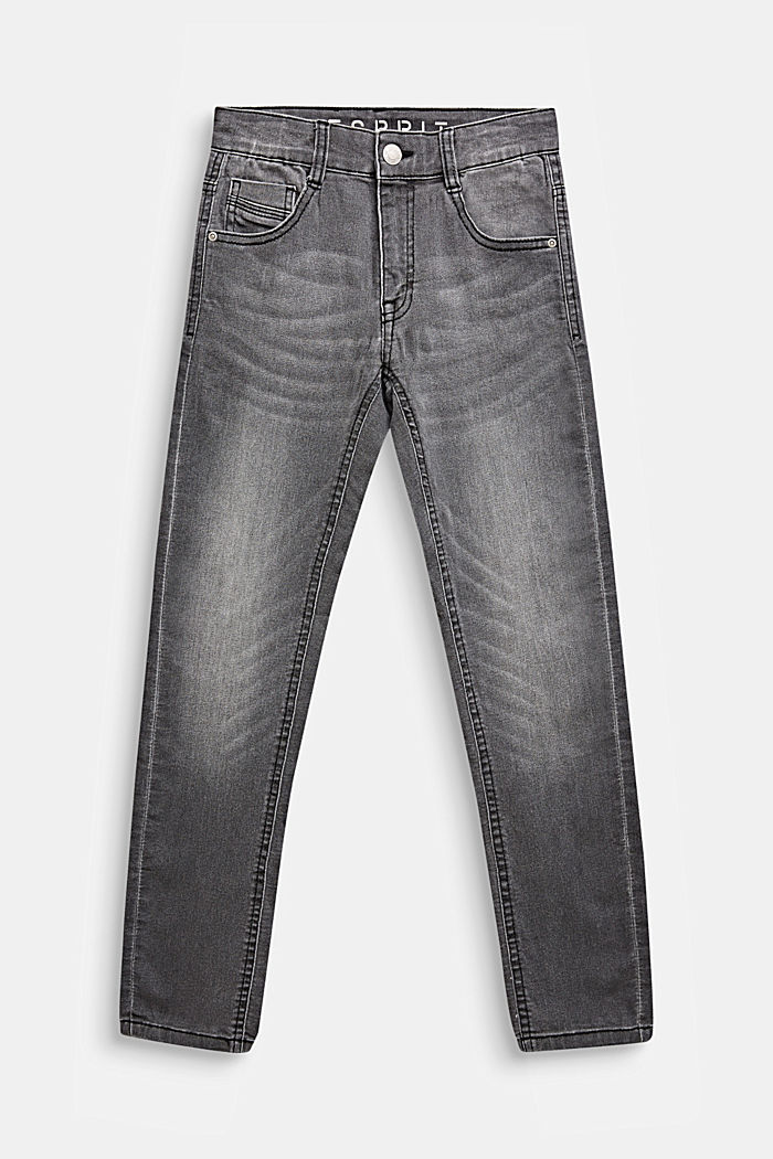 Grijze jeans met veel stretch, LCGREY DARK WASH, detail image number 0
