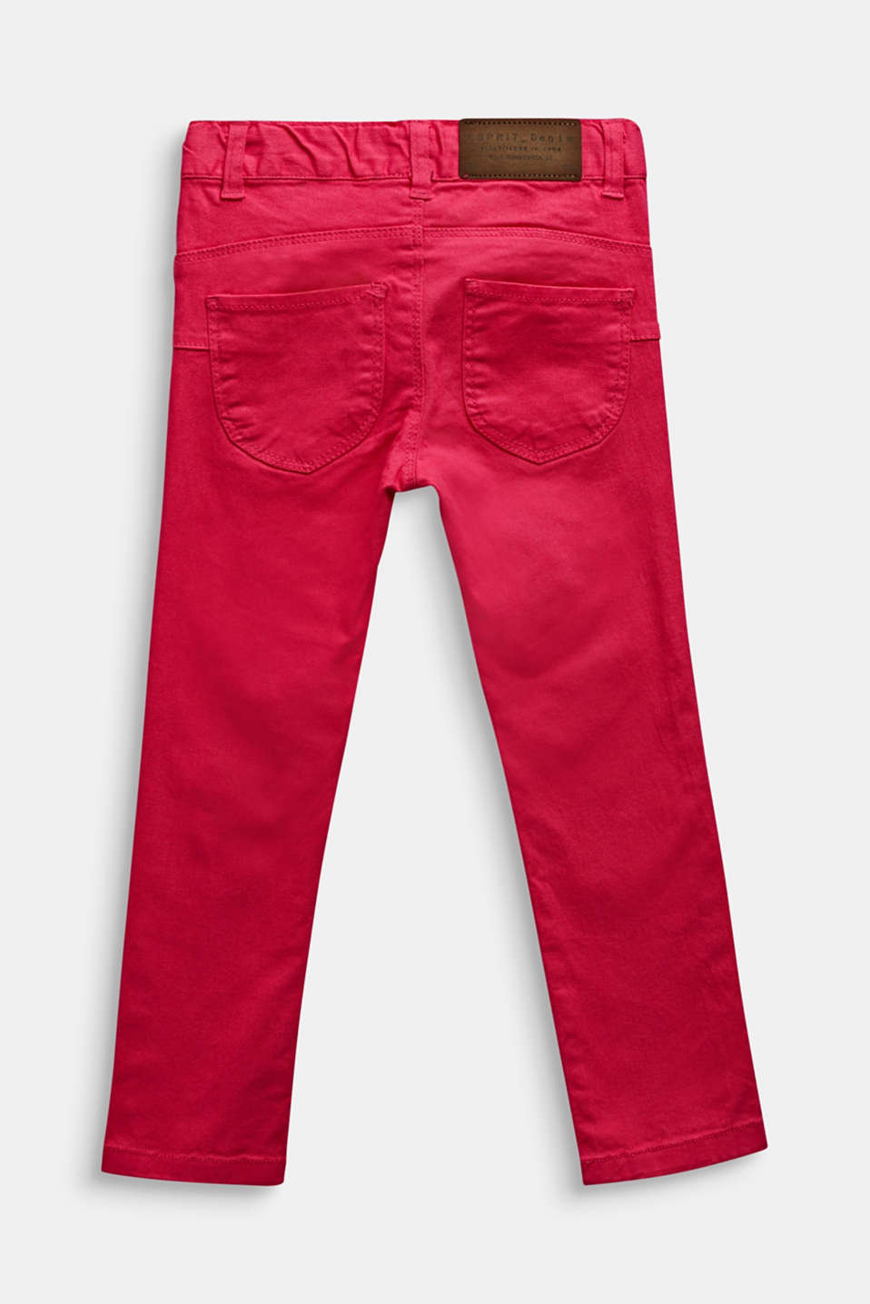 Coloured stretch jeans, adjustable waistband, CANDY PINK, detail image number 1