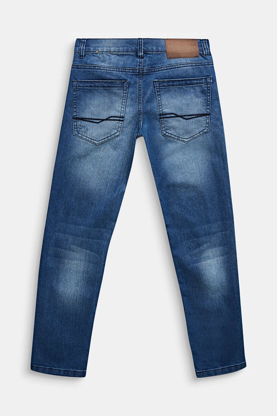 Stretch jeans in a vintage look, LCLIGHT INDIGO D, detail image number 1