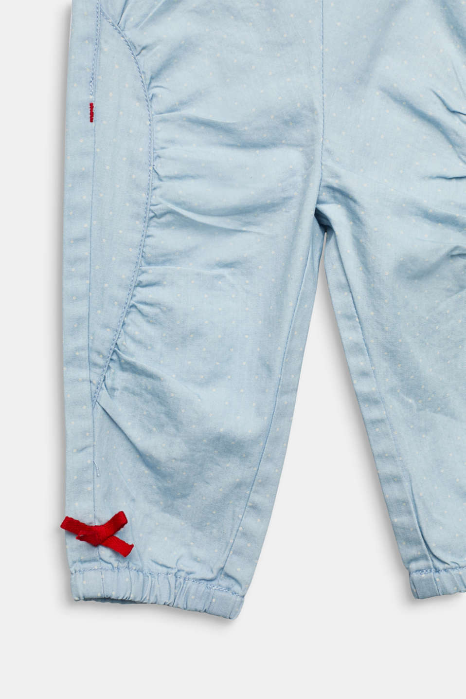 Gathered jeans with polka dots, LCLIGHT INDIGO D, detail image number 2