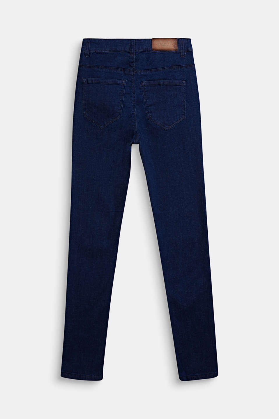 Skinny stretch jeans with an adjustable waistband, LCDARK INDIGO DE, detail image number 1