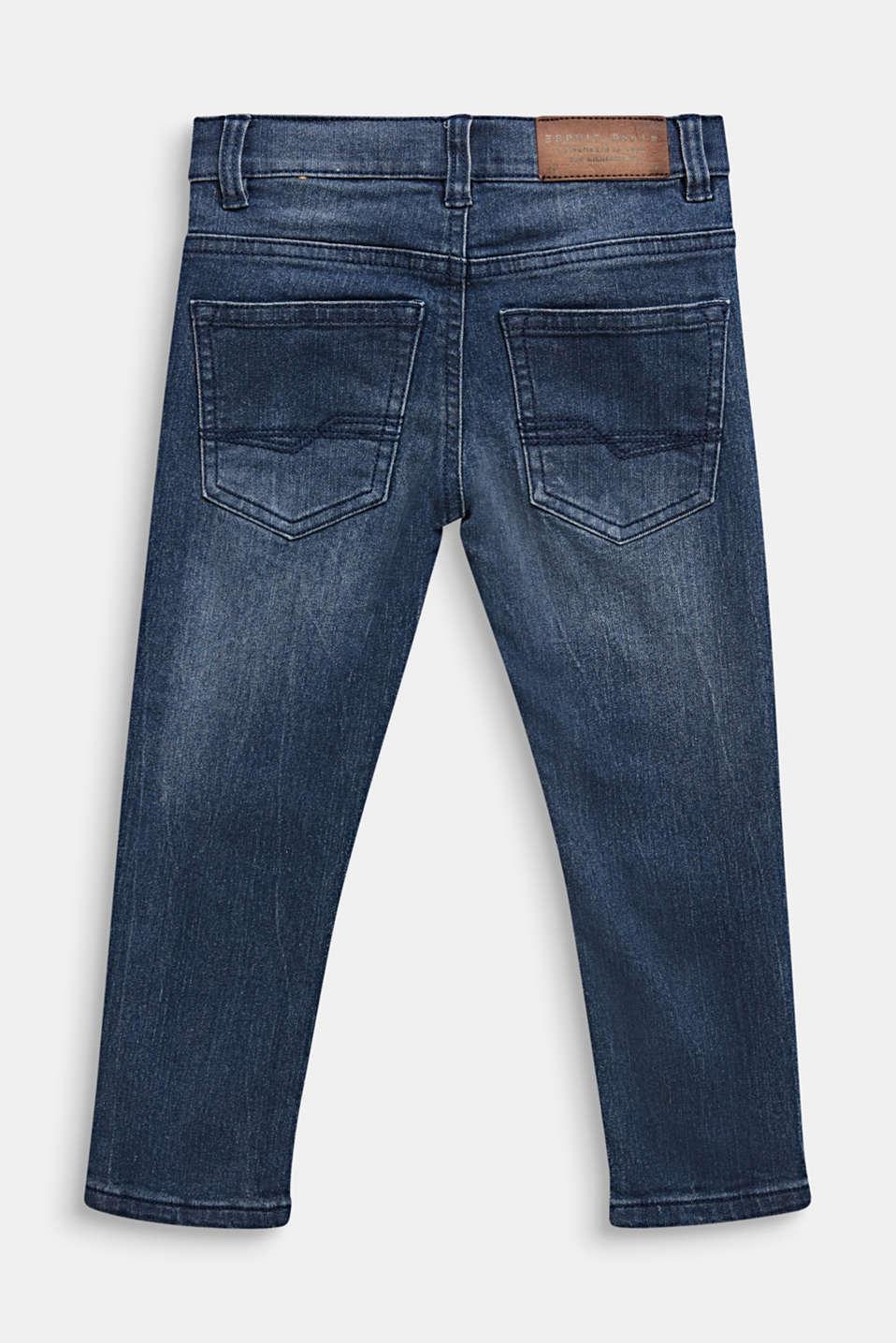 Stretch jeans in a vintage look, LIGHT INDIGO D, detail image number 1