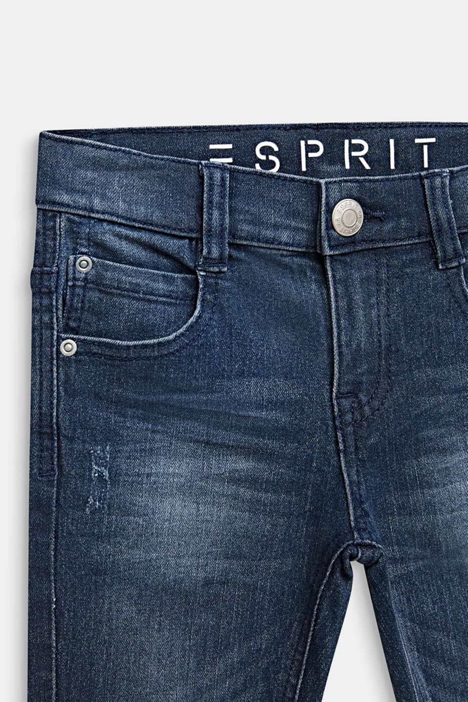 Stretch jeans in a vintage look, LIGHT INDIGO D, detail image number 2