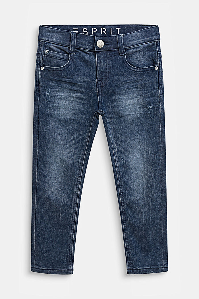 Stretchjeans met een vintage look, LIGHT INDIGO D, detail image number 0