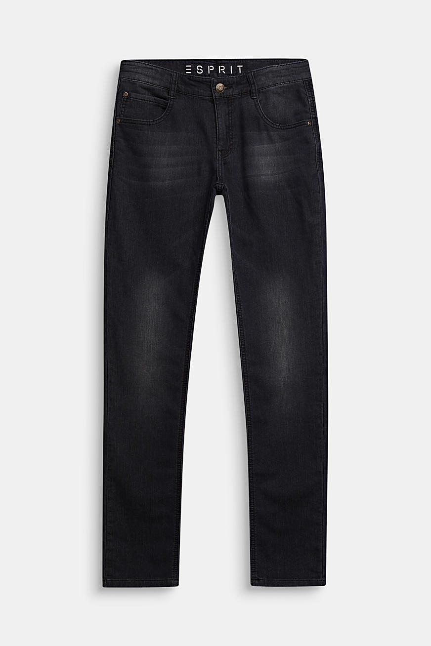 Black jeans in comfy tracksuit fabric