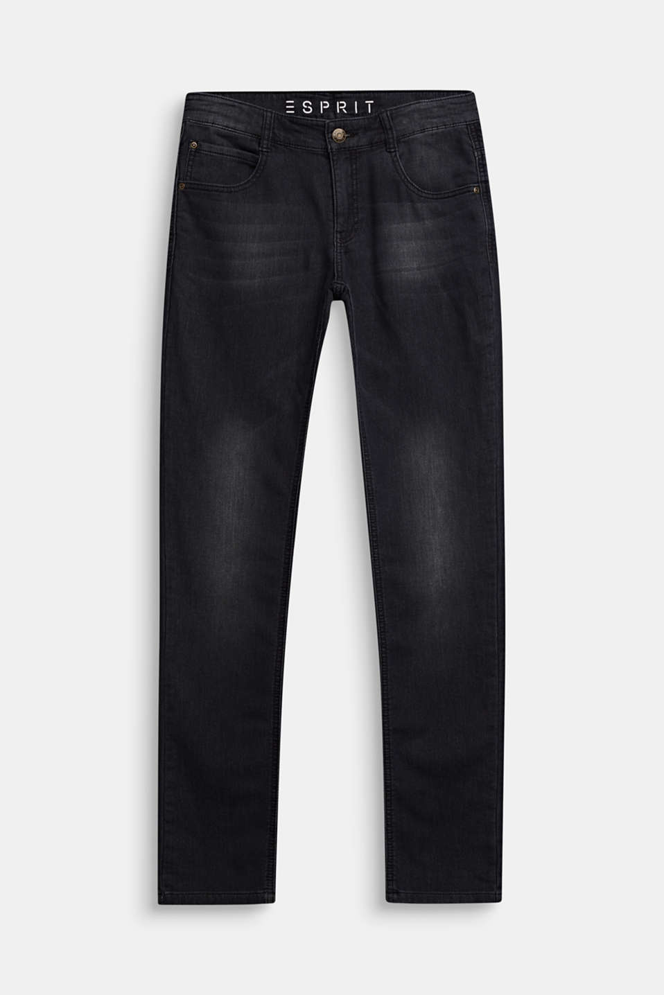 Esprit - Black jeans in comfy tracksuit fabric