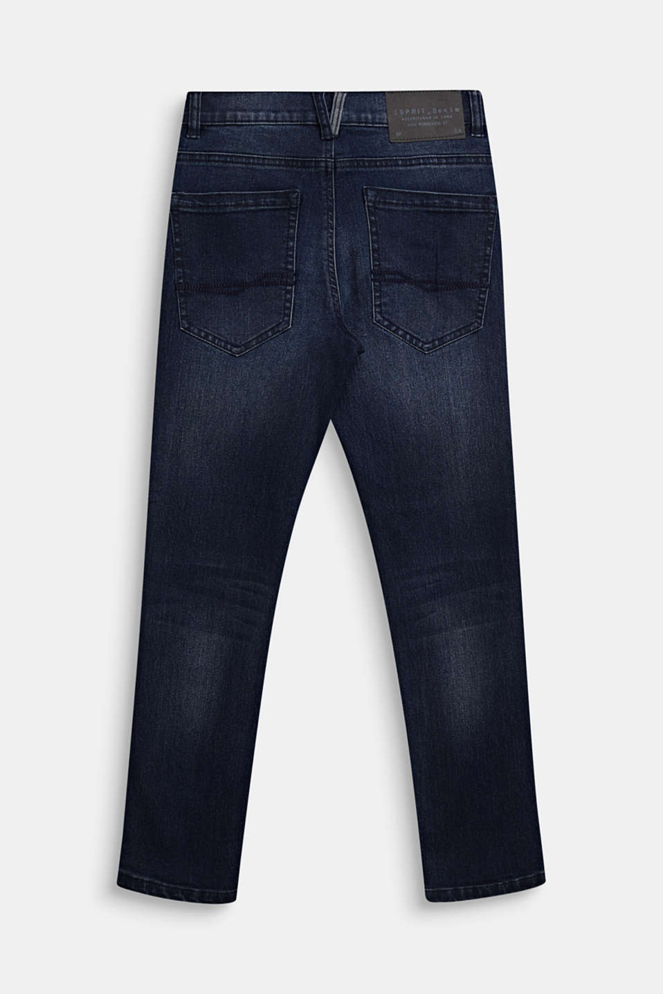 Stretch jeans with a tapered fit and adjustable waistband, LCDARK INDIGO DE, detail image number 0