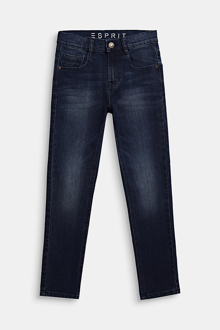 Stretchjeans met tapered fit, verstelbare band