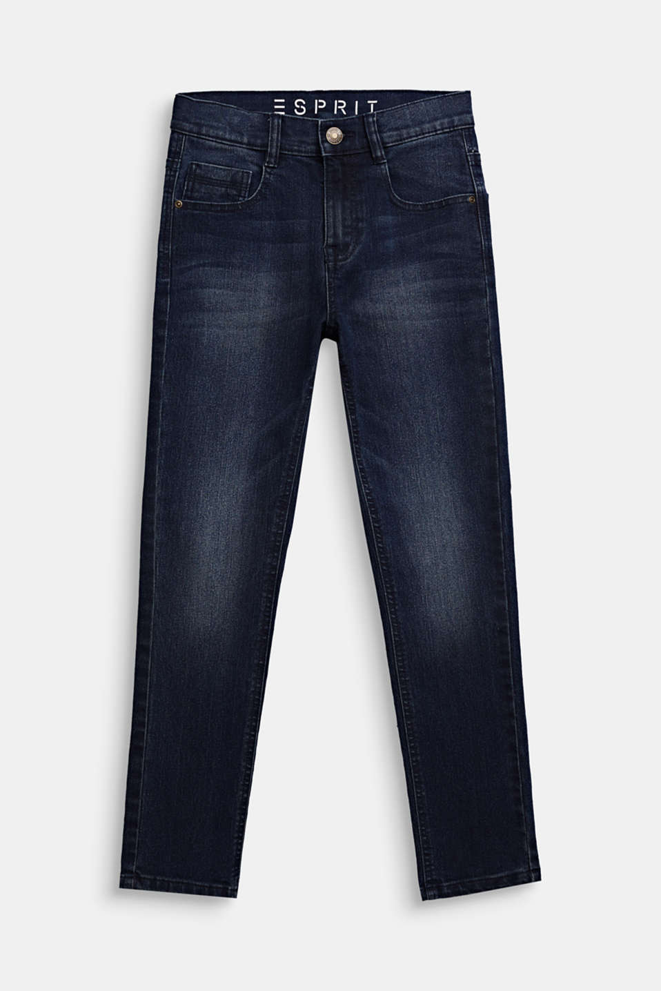 Esprit - Stretchjeans met tapered fit, verstelbare band