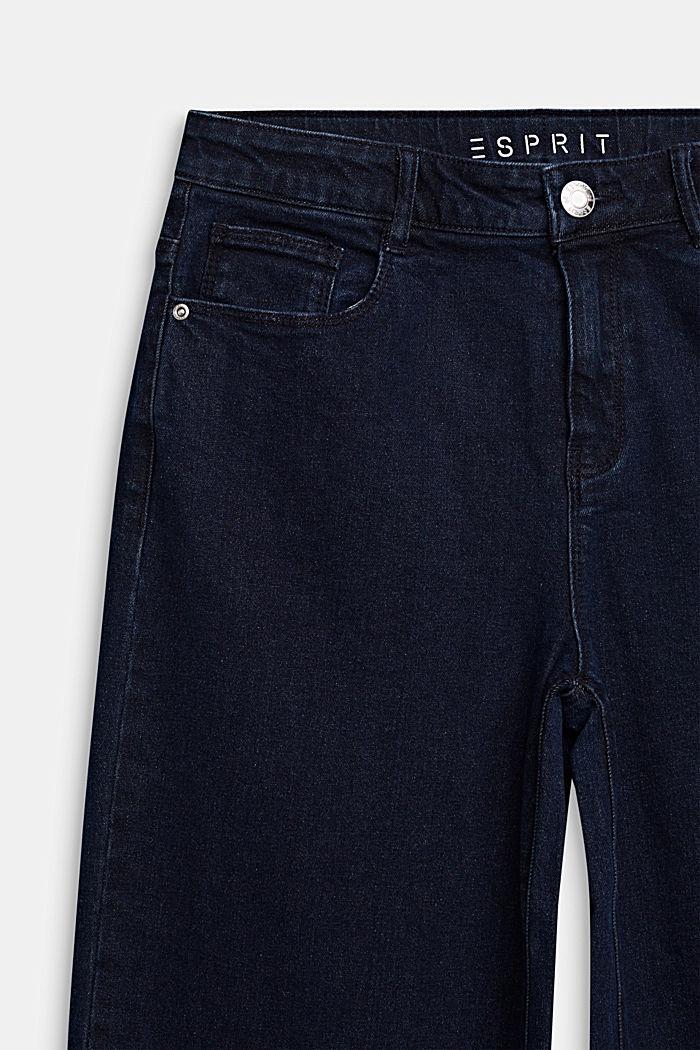 Ankle-length culottes made of stretch denim, RINSE WASH DENIM, detail image number 2