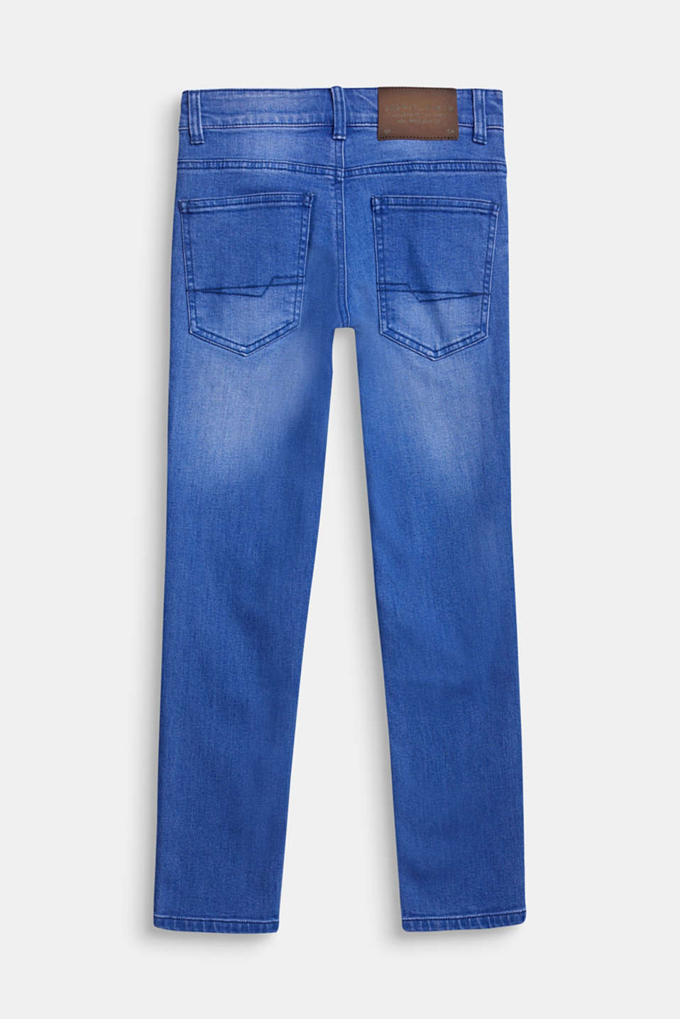 Washed stretch jeans with an adjustable waistband, LCBRIGHT BLUE DE, detail image number 1