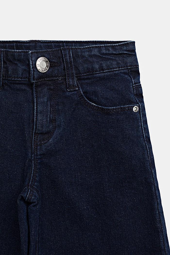 Culotte van elastisch denim, verstelbare band, DARK INDIGO, detail image number 2