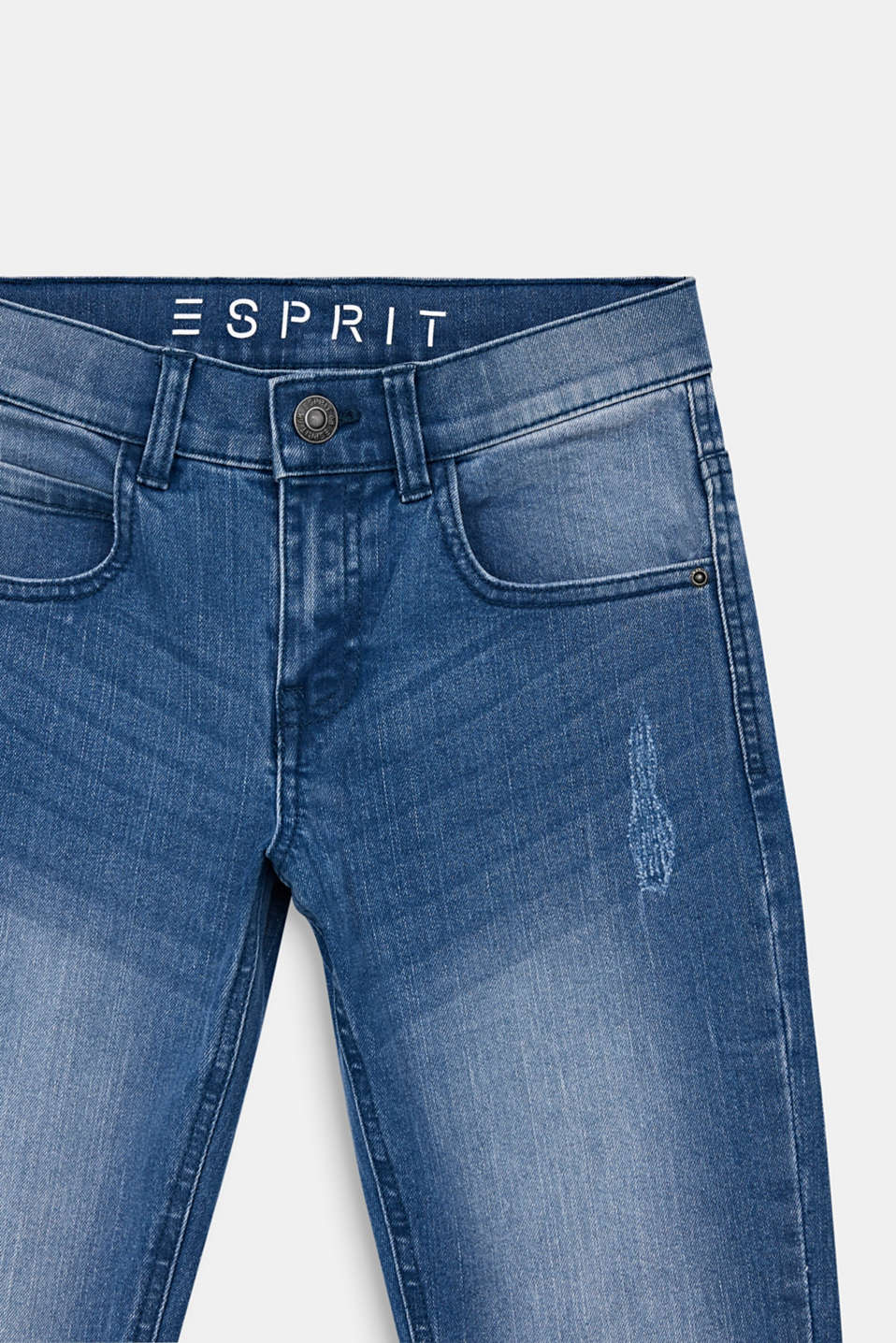 Jeans in a vintage look with an adjustable waistband, LCLIGHT INDIGO D, detail image number 2