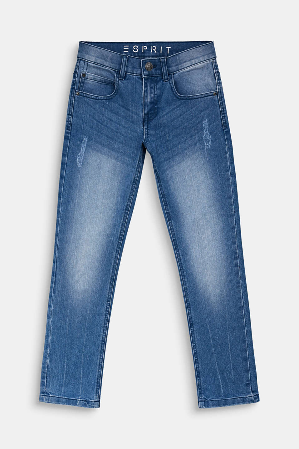 Esprit - Jeans in a vintage look with an adjustable waistband
