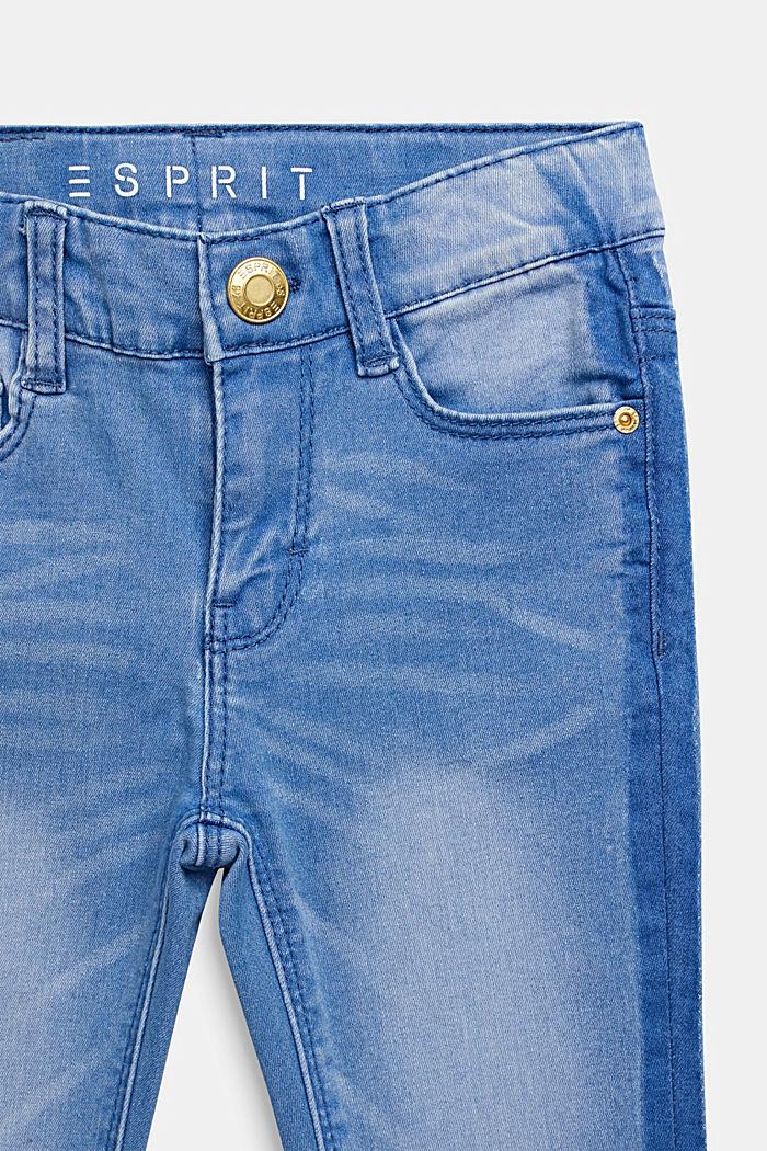 Vaqueros con moderno look deslavado y cintura ajustable, BLEACHED DENIM, detail image number 2