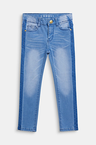 Jeans in a trendy garment wash, adjustable waistband