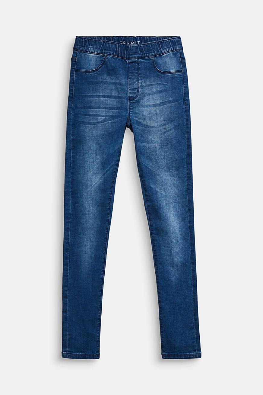 Garment-washed jeggings