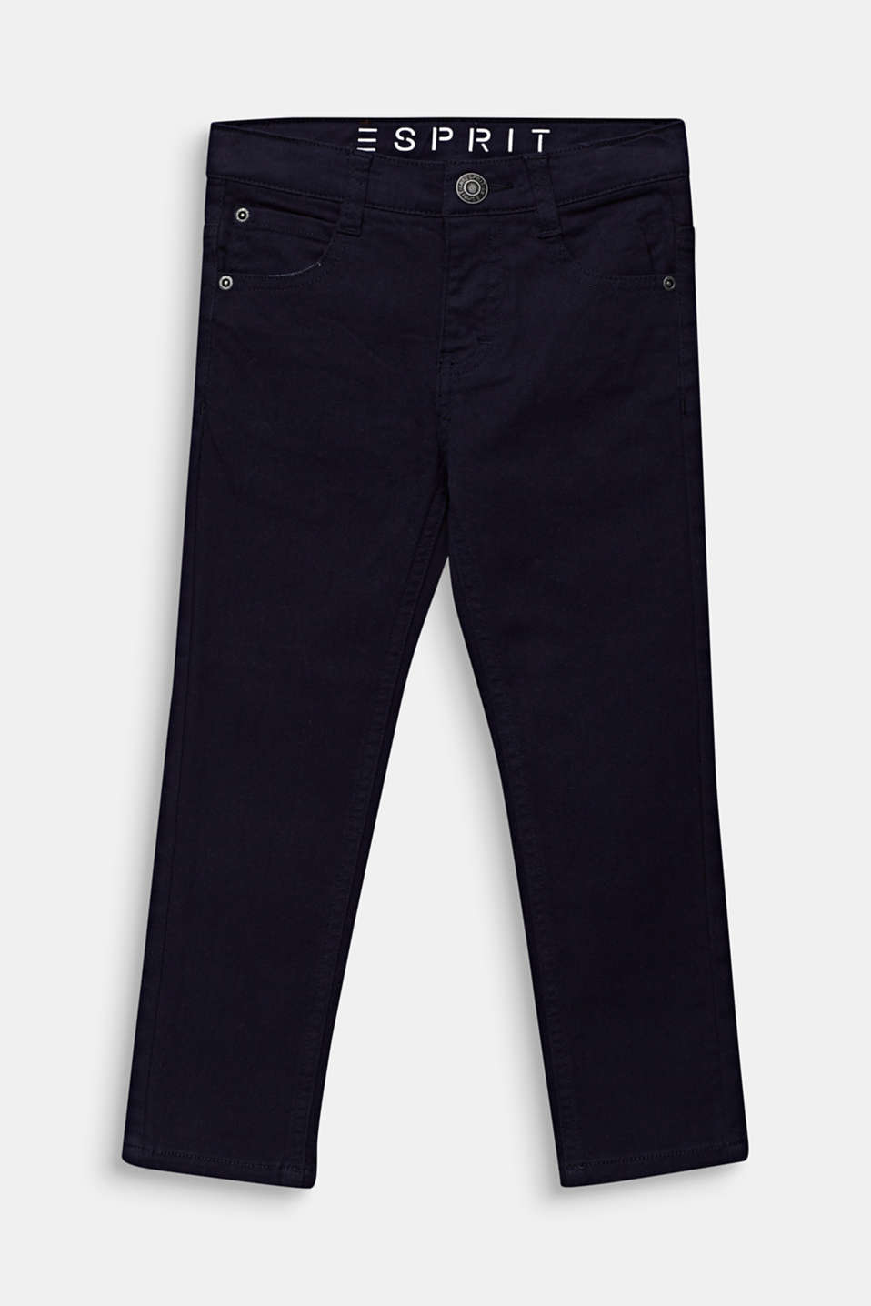 Coloured stretch jeans, adjustable waistband, MIDNIGHT BLUE, detail image number 0