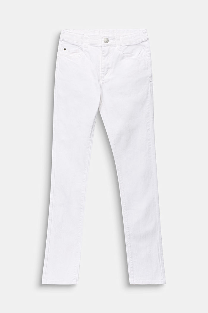 Stretch-Jeans mit Verstellbund, WHITE, detail image number 0