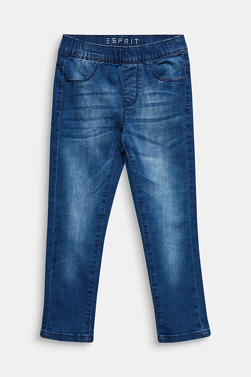 Jegging met garment-washed look