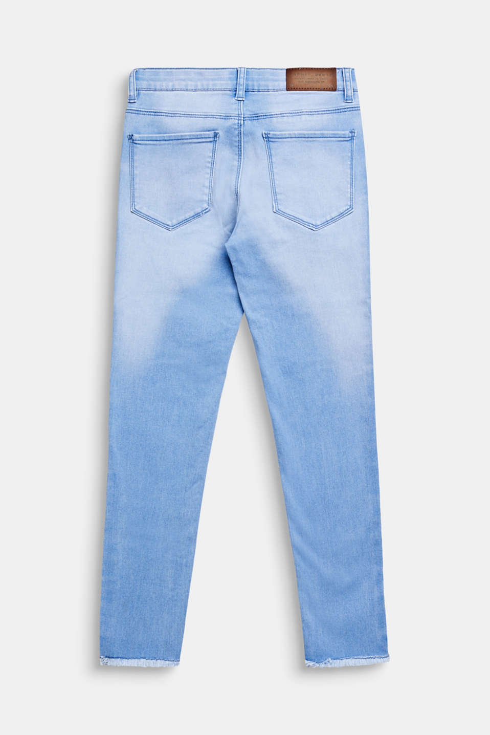 Washed stretch jeans with an adjustable waistband, LCBLEACHED DENIM, detail image number 1