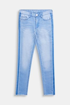 Washed stretch jeans with an adjustable waistband, LCBLEACHED DENIM, detail