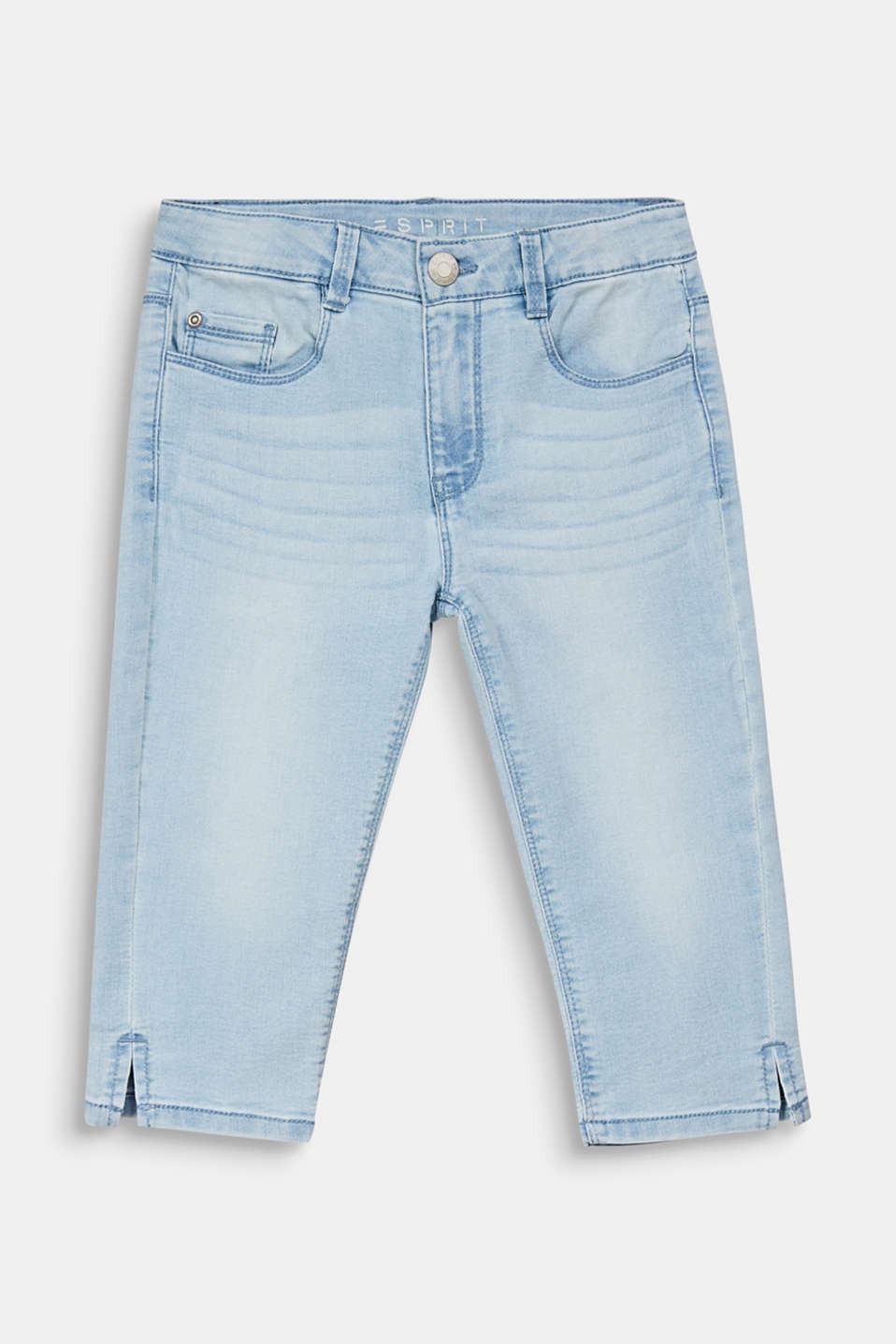 Capris jeans with an adjustable waistband, LCBLEACHED DENIM, detail image number 0