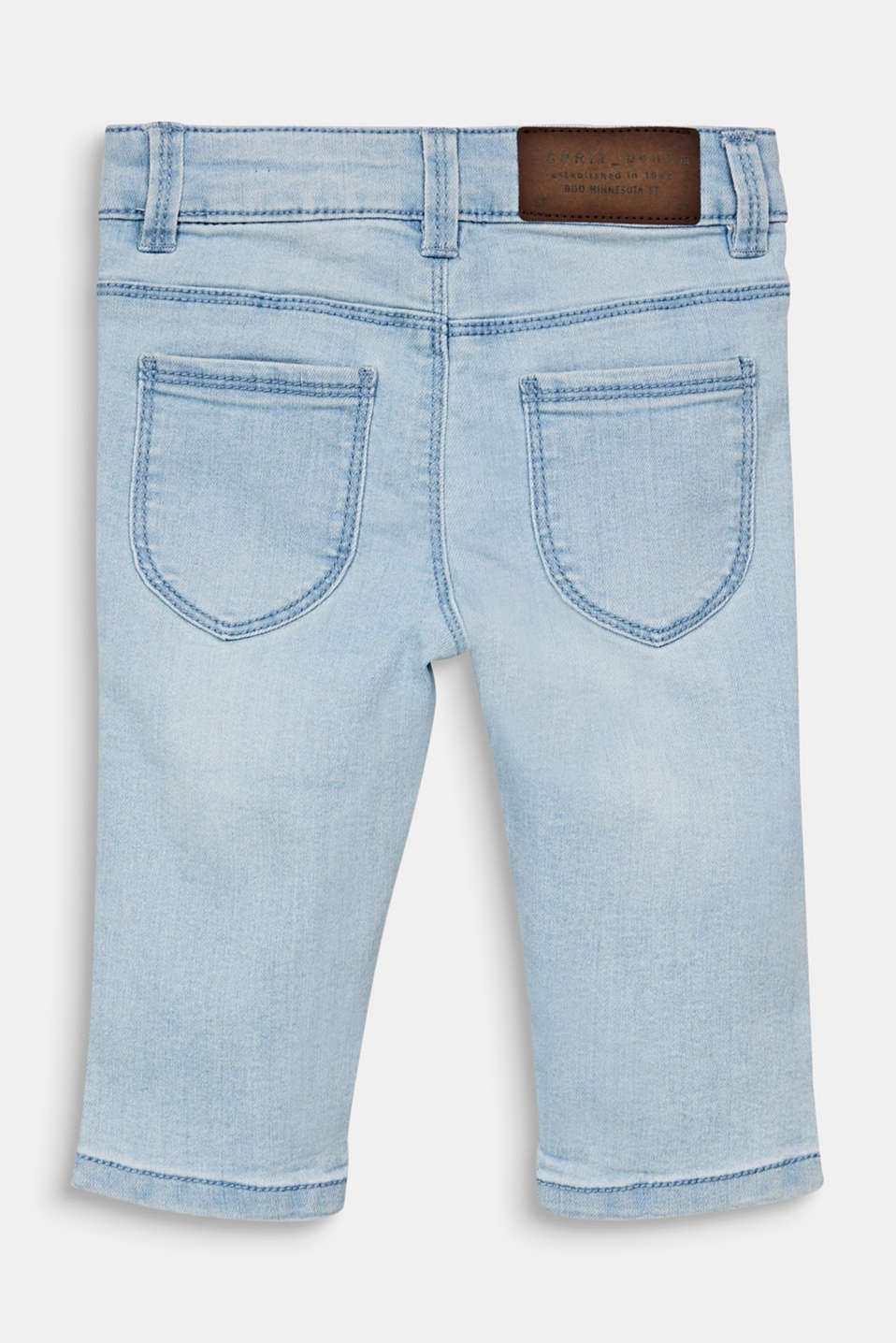 Capris jeans with an adjustable waistband, BLEACHED DENIM, detail image number 1