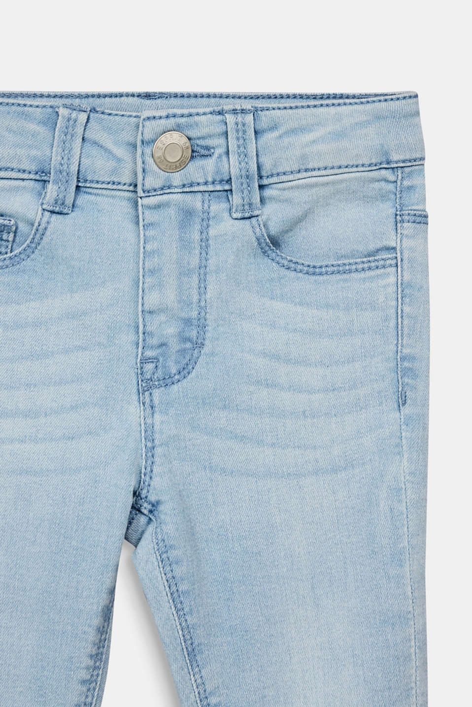 Capris jeans with an adjustable waistband, BLEACHED DENIM, detail image number 2