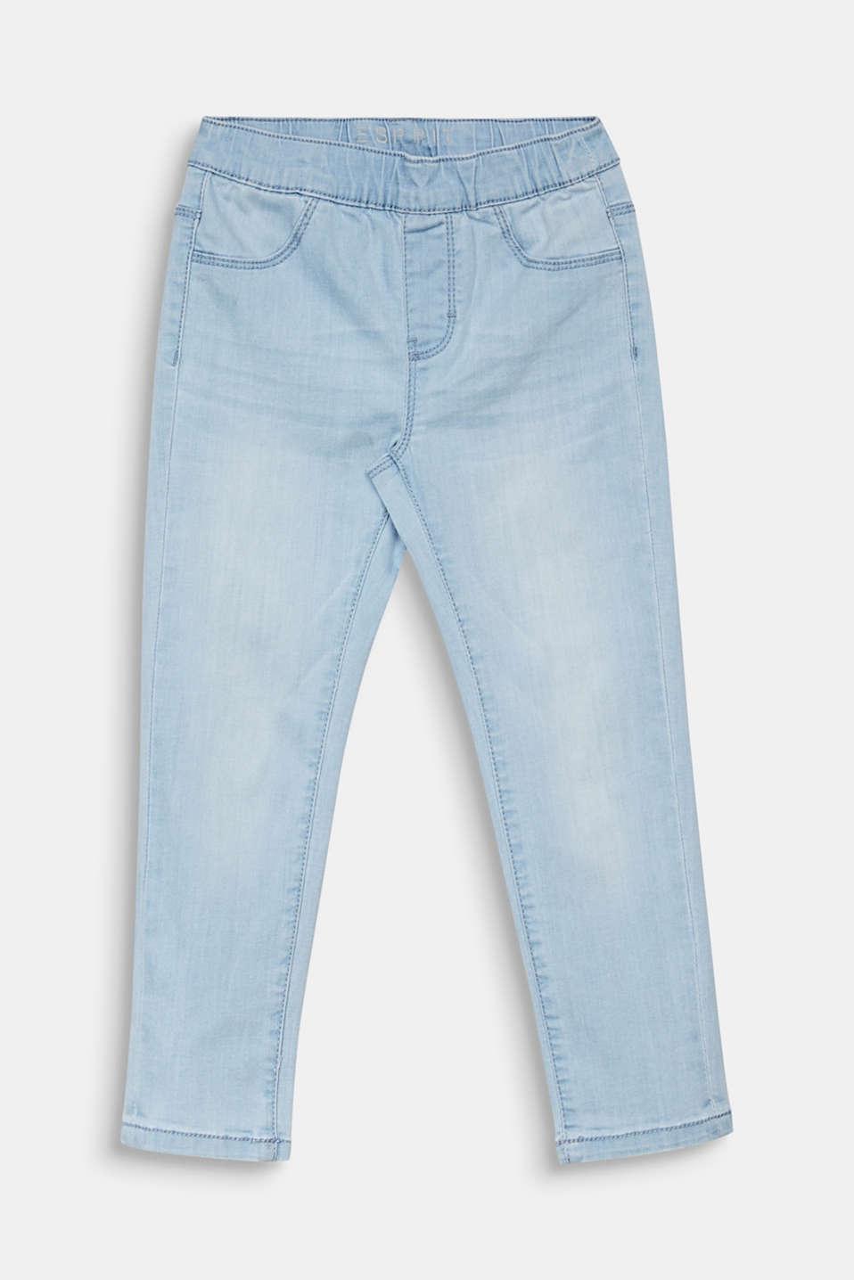 Jeggings with a light garment wash, LIGHT INDIGO D, detail image number 0