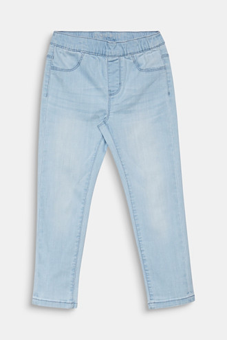 Jeggings with a light garment wash