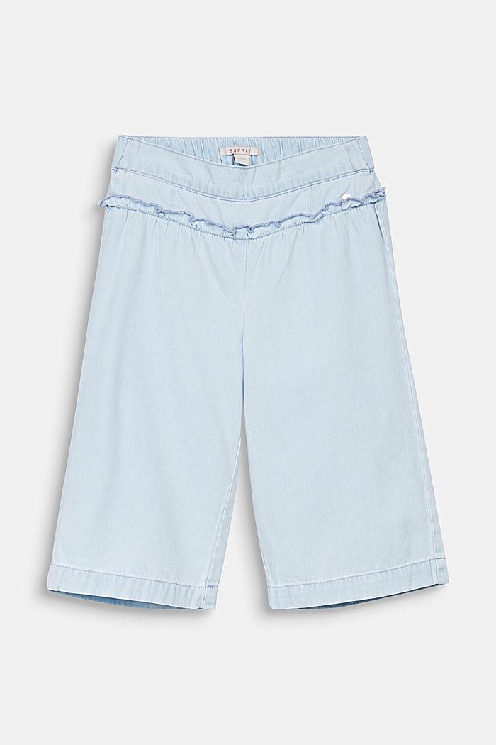 Lightweight cotton denim culottes