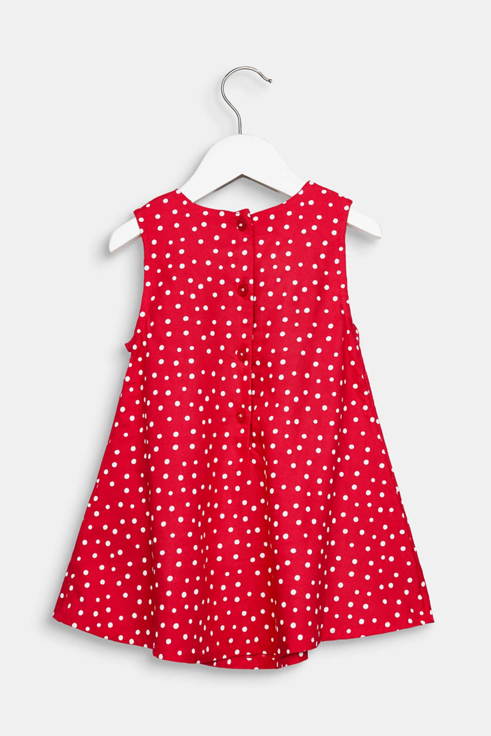 Flared woven dress with polka dots, LCRASPBERRY, detail image number 2