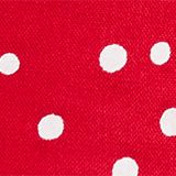 Flared woven dress with polka dots, LCRASPBERRY, swatch