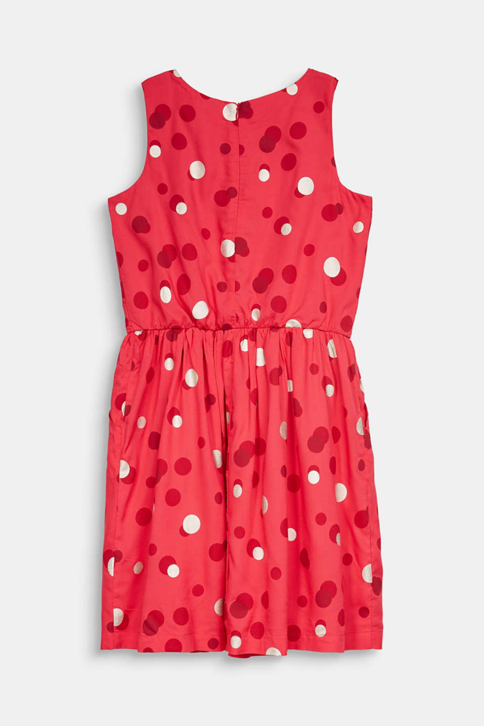 Dress with a shimmering polka dot print, LCRASPBERRY, detail image number 1